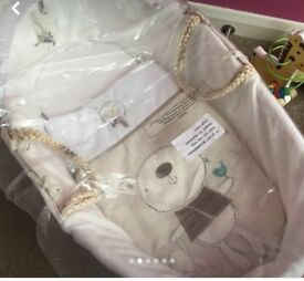 Brand new Moses basket and bedding