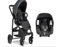 Graco Evo Charocal with brand new car seat