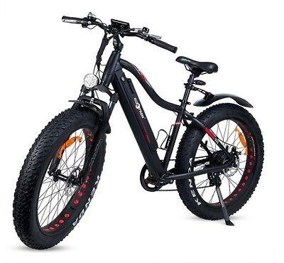 """Bicicleta electrica XL 26"""" Monster 7 velocidades 350w 36v negra envio urgente48h"""