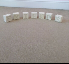 'Friends' wooden blocks
