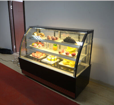 220v Countertop Refrigerated Cake Showcase Commercial Diamond Glass Display Case