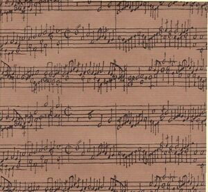 MUSIC CONCERTO GIFT WRAPPING PAPER -30 In x 6 Ft Sheet