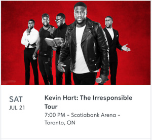 2 KEVIN HART TICKETS - SECTION 118, ROW 9