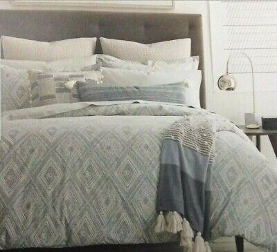 "Dwell Studio Caspiane Azure Euro 2 pillow shams 26""x 26"" geometric"