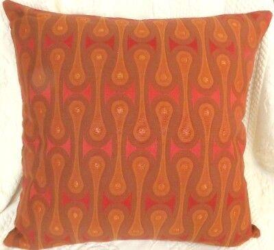 Maharam DESIGN 9297 by Josef Hoffmann Red Contemporary Modern Pillow
