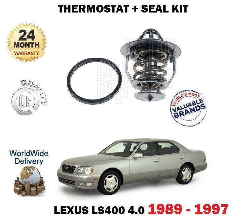 FOR LEXUS LS400 4.0 1UZ-FE 1989-1997 NEW THERMOSTAT + SEAL KIT