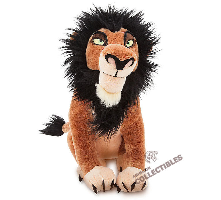 "Disney Store SCAR PLUSH The Lion King 14"" Medium Soft Guard Villain NEW 2017"
