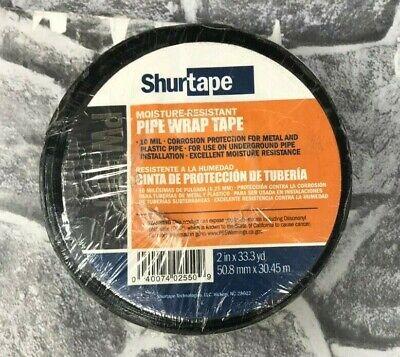 Shurtape Pw 100 Black Moisture-resistant Pipe Sealant Tape 2 X 33.3 Yd New