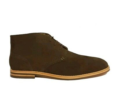 HUDSON LONDON HOUGHTON 3 BROWN SUEDE LEATHER CHUKKA CHELSEA BOOTS MENS UK SIZE 8