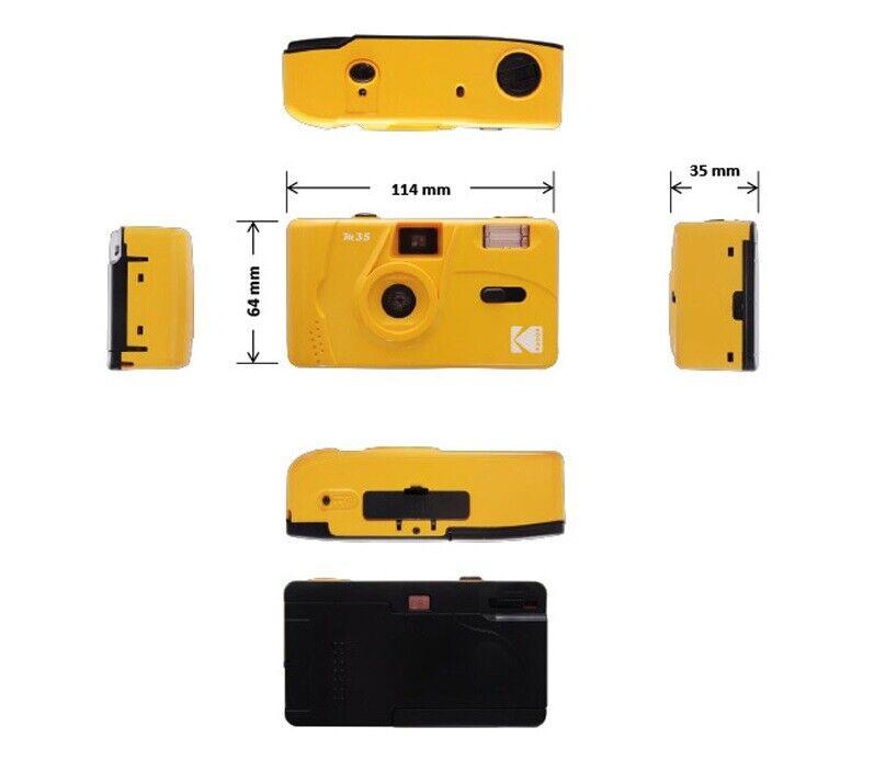 как выглядит NEW - Kodak Vintage Retro M35 35mm Reusable Film Camera Pink Green Yellow Purple фото