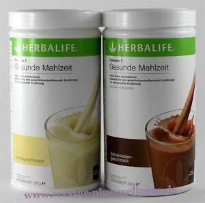 2x Herbalife Shake F1 - 2x 550g. Geschmack Auswahl (1000g - 72,64€)