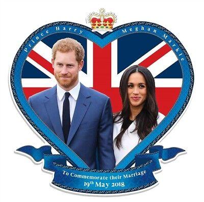 Prince Harry Y Meghan Markle Boda Real de Pared Silueta de Cartón