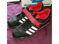 adidas Powerlift 2 Weightlifting Shoe - Black/Red size 10 uk
