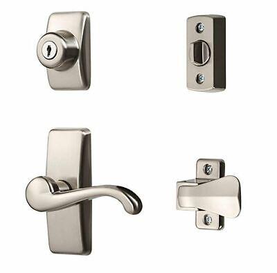Entry Lever Door Lock Handle Set Security Storm Screen Replacement Home