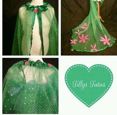 frozen fever inspired tulle full length cape,fancy dress ,frozen,elsa. ()
