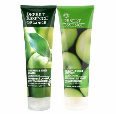 Desert Essence Organic Green Apple & Ginger Thickening Shampoo & Conditioner Set Desert Essence Green Organic Conditioner