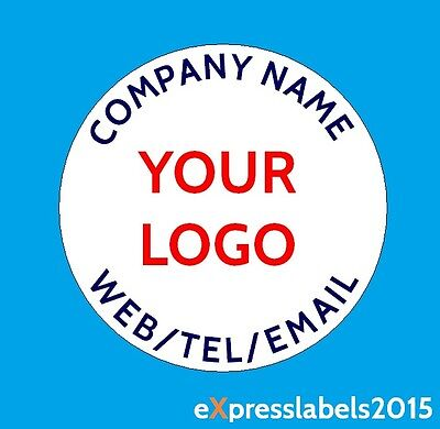 Personalised Business Name Stickers Thank You Seals Your Logo Labels Address 105