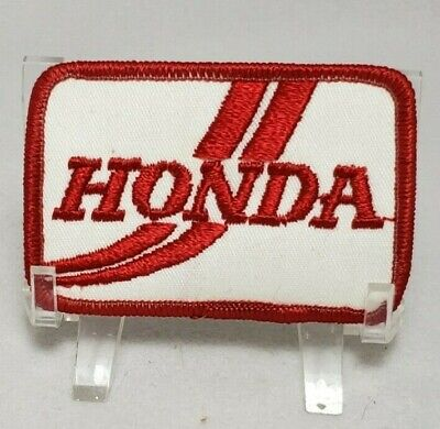 "Vintage New Old Stock Honda Racing Embroidered Iron-On Patch 3"" x 2"" Red/White"