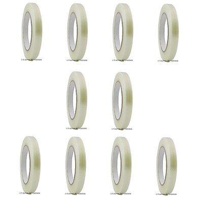 10 Roll 12 X 60 Yd Filament Reinforced Strap Fiberglass Tape 3.9 Mil Free Ship