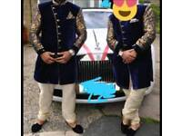 Bespoke Mens Velvet Blazer Sherwani x2