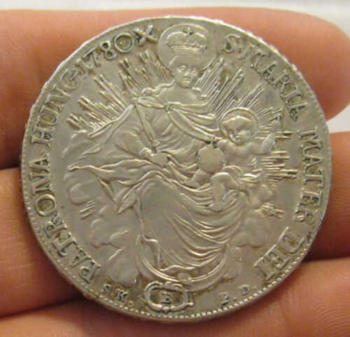 Hungary - 1780-B Large Silver Thaler - Very Nice Coin!