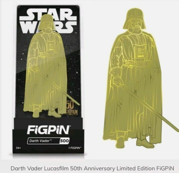 DARTH VADER GOLD FIGPIN #500 2K LIMITED EXCLUSIVE PRE-ORDER STAR WARS SOLD OUT!