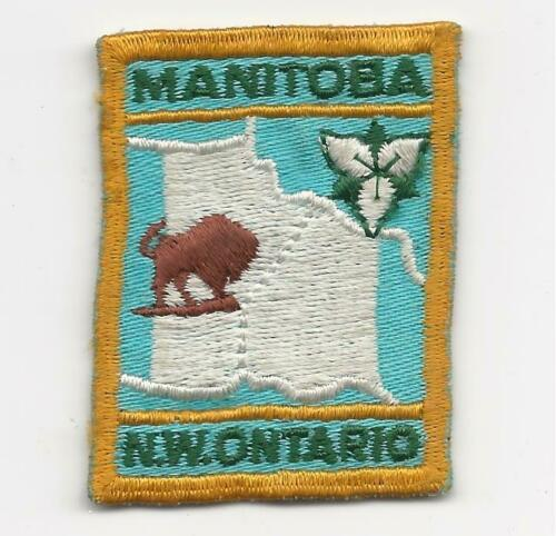 Vintage SCOUTS CANADA MANITOBA N.W. NORTHWEST ONTARIO [MB 03a] Badge Patch