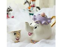 Beauty and the beast teapot tea cup