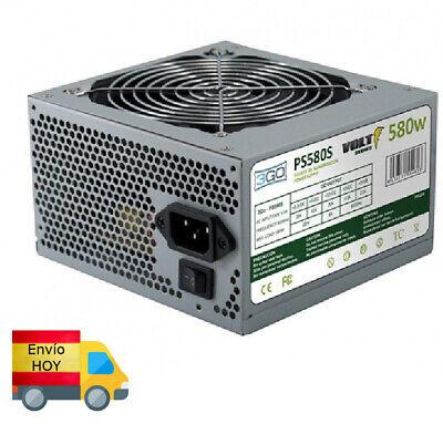 FUENTE ALIMENTACION PC ORDENADOR ATX 580W ENVIO HOY GRATIS RAPIDO