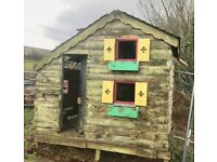 8x6 wooden shed/playhouse/poultry house