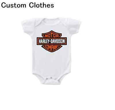 NEW Harley Davidson Motorcycle Onesie Bodysuit Shirt Baby Shower Gift