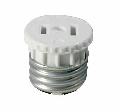 Leviton 002-125 660 Watt, 125 Volt White Adapter Socket To (Leviton Duplex Socket)