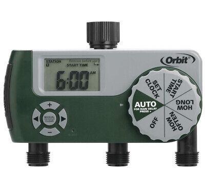 Orbit 56082 Hose Watering Timer 3-Outlet Green