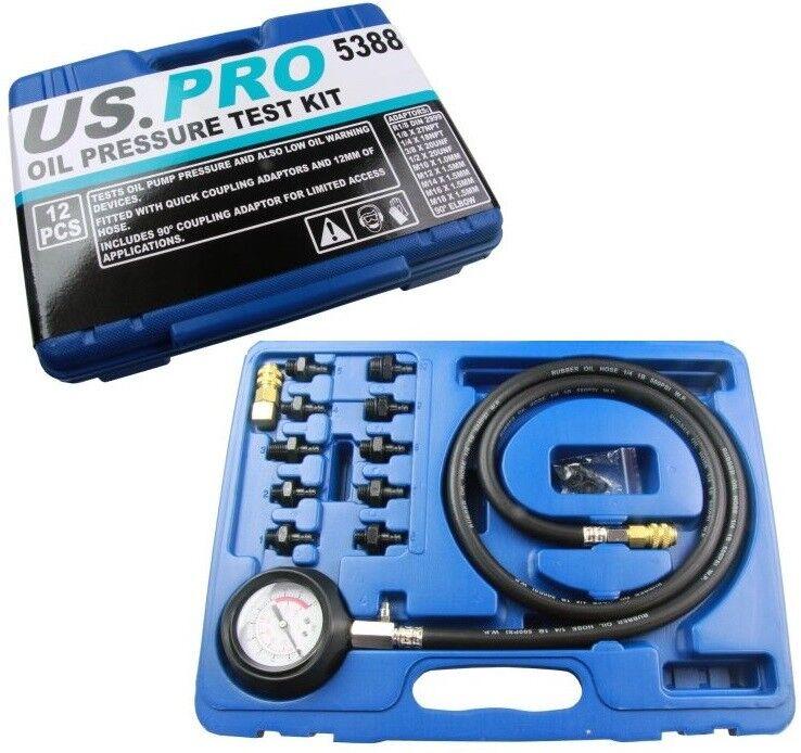 12pc Engine Oil Pressure Test Kit US PRO 5388