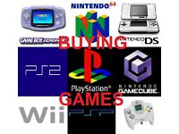 WANTED GAMES - Nintendo/PS1/PS2/Gameboy/Wii/DS/3DS/Dreamcast/Gamecube/Playstation