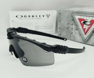 """OAKLEY matte black/grey SI BALLISTIC """"M FRAME 3.0 AGRO"""" sunglasses! NEW IN BOX!"""