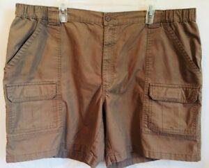 SAVANE Men's Size 44 Comfort Waistband Hiking Cargo Tan Beige Shorts