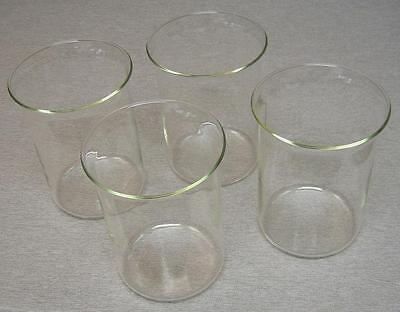 Pyrex-type Beaker - Four-pack - 2000 Ml - 7-58 Tall