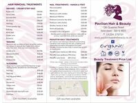 Pavilion Hair & Beauty : dermo-cosmetic facials, therapeutic massages, make-up & body treatments