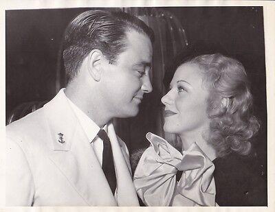 Ginger Rogers Lew Ayres Original Candid Vintage Dont Bet On Love Press Photo
