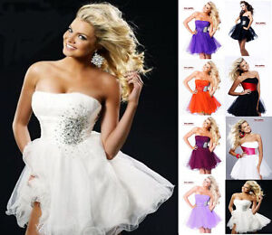 New-Mini-Short-Cocktail-Party-Evening-Prom-Dress-Ball-Gown-Size-6-8-10-12-14-16