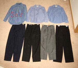 Boys Dress Pants sz 12, Dress Shirts sz 12, 14, 16, 18, S(14.5)