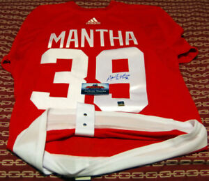 ANTHONY MANTHA Signed Detroit Red Wings Red PRO Adidas Jersey