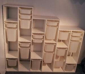 Rangement : tablettes, étagères, casiers amovibles