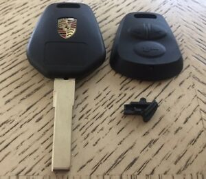 Remote Key Keyless FOB Replacement Case Shell 3 Button Uncut Blade For Porsche