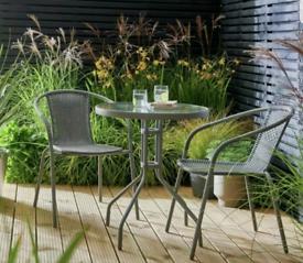 2 Seater Rattan Patio/Balcony Furniture Set