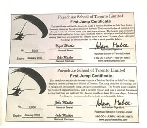 Parachuting - Gift Certificate for 2