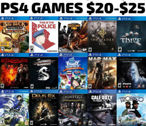 PS4 Games For Sale or Trade - $20-$25 Each
