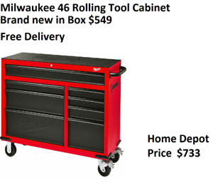 Brand New Milwaukee 46 inch, 8 Drawer Roller Cabinet Tool Chest