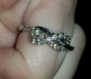 White gold + diamonds Infinity Symbol Ring (from Peoples)